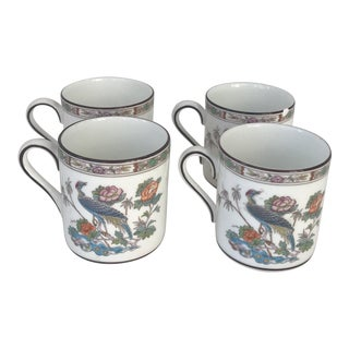 Kutani Crane Wedgewood Demitasse Cups - Set 4