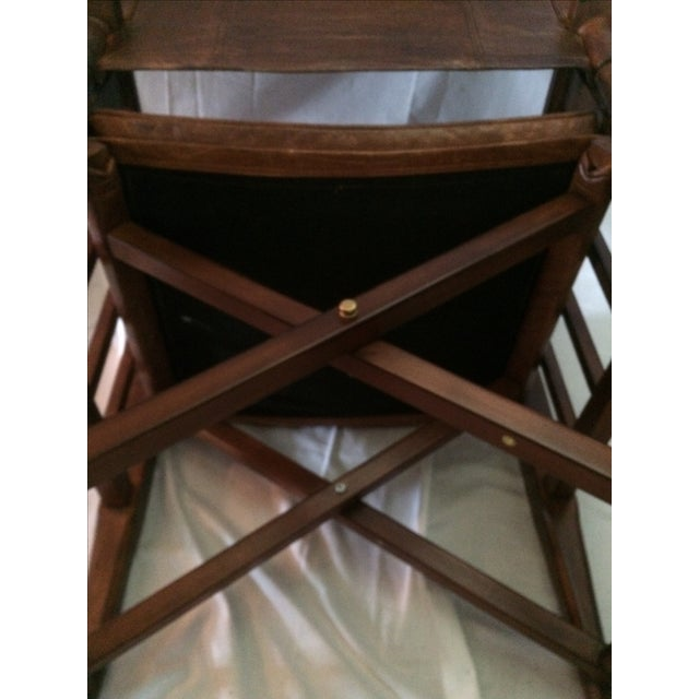 Mid-Century Modern Wood & Leather Sling Chair - Image 6 of 6