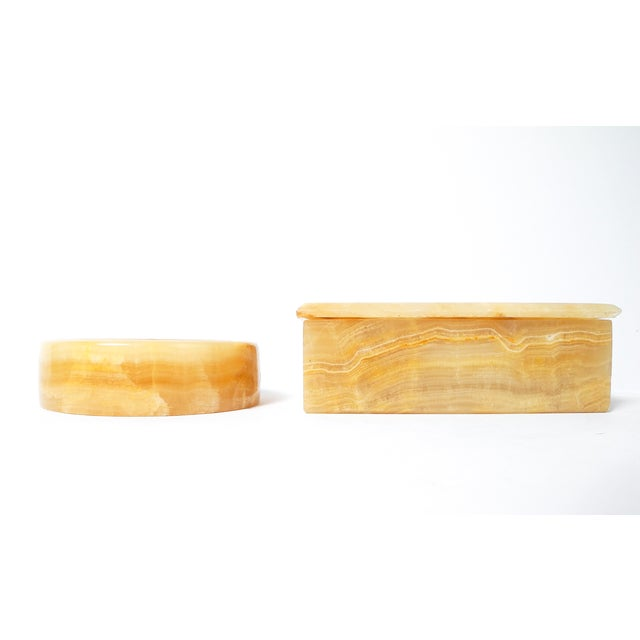 Polished Onyx Trinket Box & Dish - A Pair - Image 3 of 5