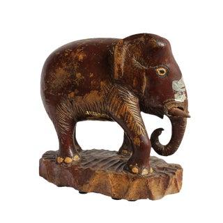 Asian Antique Wood Thai Elephant For Sale
