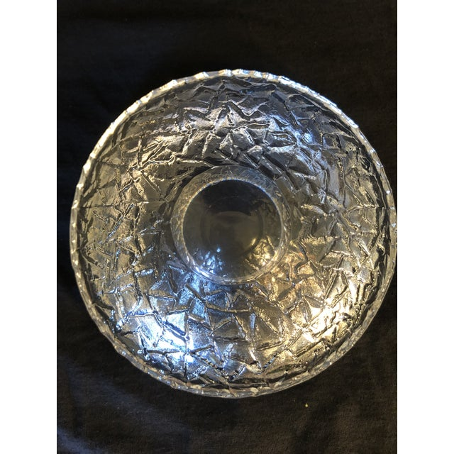 1990s Swedish Glass Bowl by Lars Hellston for Orrefors For Sale In Monterey, CA - Image 6 of 8