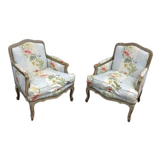 Louis XV Style Bergeres-A Pair For Sale