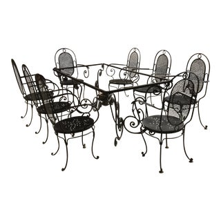 French Deco Iron Dining Set