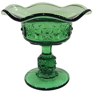 Green Fluted Candy Dish