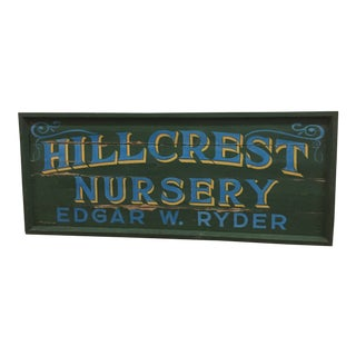 Sign - Vintage Hand Painted For Sale