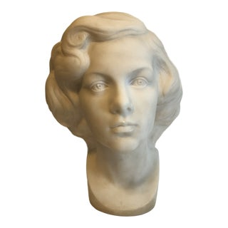 1920s Marble Bust of a Lady For Sale