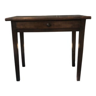 19th Century Traditional Banded Walnut Side Table For Sale