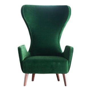 Mr. Brown London Green Velvet Chair For Sale