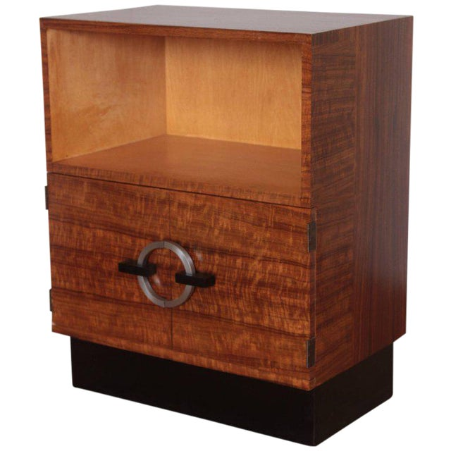 Art Deco Machine Age Gilbert Rohde Herman Miller, 1934 East India Laurel Cabinet For Sale