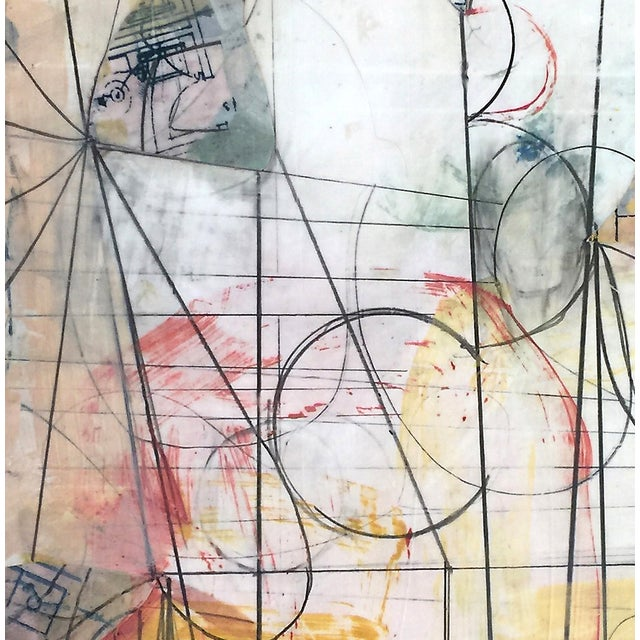 'Room of Tatters No. 4' Mixed Media Drawing - Image 2 of 2