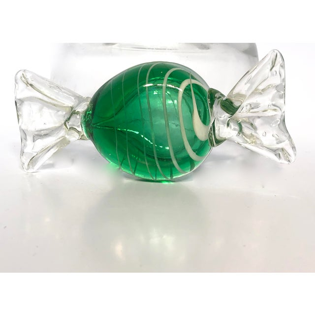 Murano 1960s Vintage A. Seguso Italian Murano Handblown Candy Paperweight For Sale - Image 4 of 6
