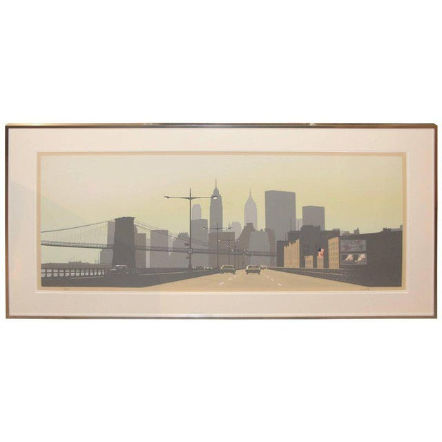 East Side Drive New York City Serigraph by Howard Kanovitz For Sale - Image 9 of 9