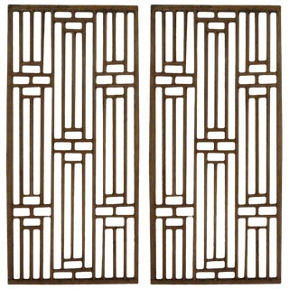Chinese, Circa Late 1900s Wood Window Panels For Sale