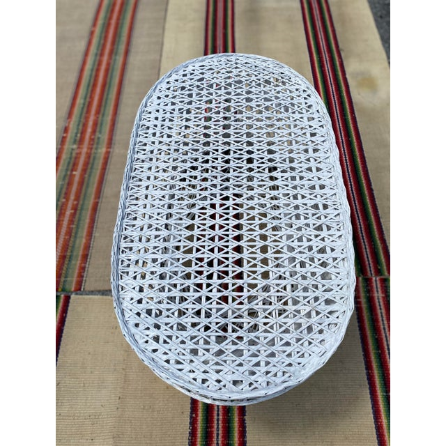 Glass Vintage Mid-Century Russell Woodard Spun Fiberglass Oval Patio Table For Sale - Image 7 of 12