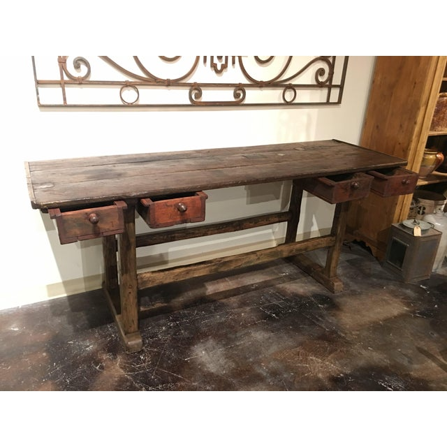 20th Century French Country Work Table For Sale - Image 4 of 14
