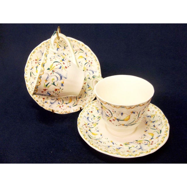 Early 21st Century Gien Toscana Teacups & Saucers - Service for 2 For Sale - Image 5 of 5