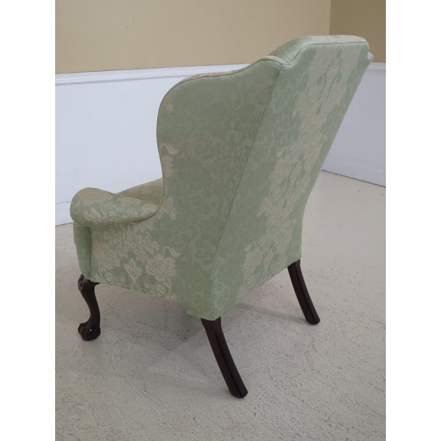 2010s Late 19th Century Kindel #412 Philadelphia Claw Foot Winterthur Wing Chair For Sale - Image 5 of 13