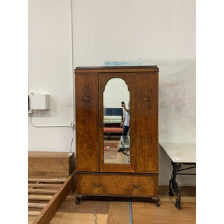 Early-20th Century Modular Wood + Mirrored Armoire Preview