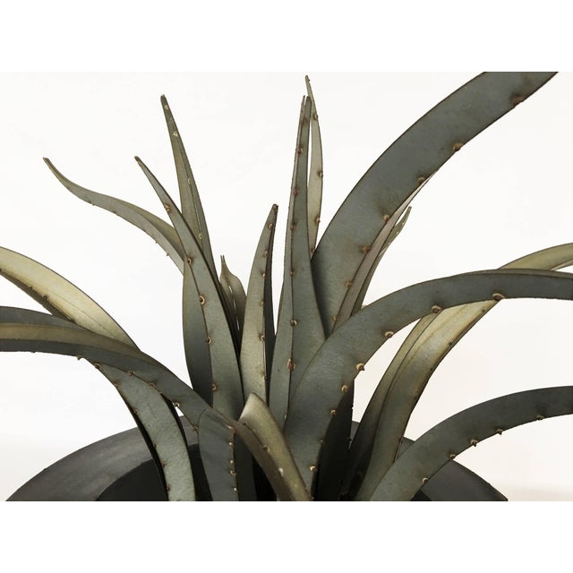 Large Patinated Sculpture of a Plant For Sale In Dallas - Image 6 of 9