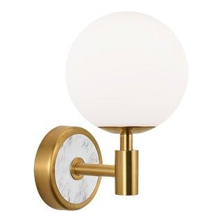 Lunar Wall Light in Brass For Sale