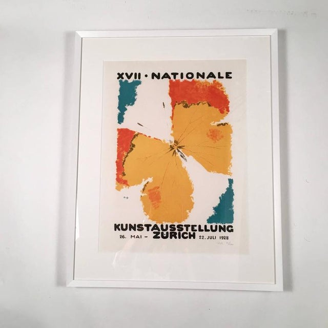 A beautifully printed lithograph, hand printed in a limited edition, number 22 of 500, by Atelier J.E. Wolfensberger,...