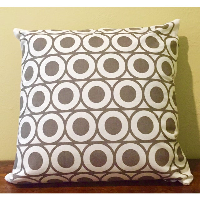 Gray & White Geometric Pillows - A Pair - Image 3 of 6