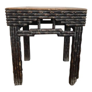 Pair of 18th Century Chinese Elmwood Side Tables