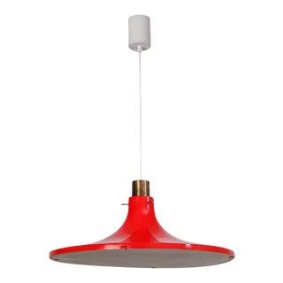 Hans-Agne Jakobsson Red Metal Pendant, Sweden, 1960s For Sale