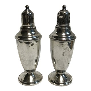 1930s Sterling Silver Revere Salt & Pepper Shakers - a Pair For Sale