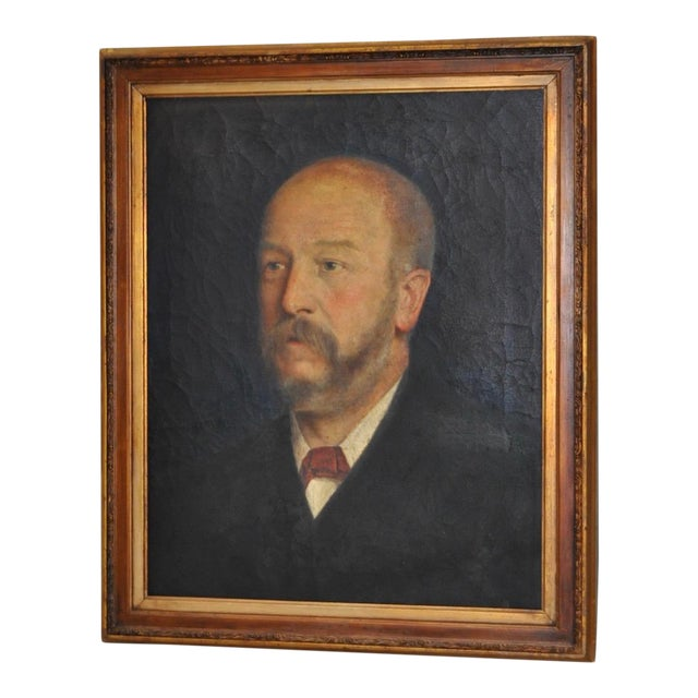 19th C. Male Oil Portrait - Image 1 of 8