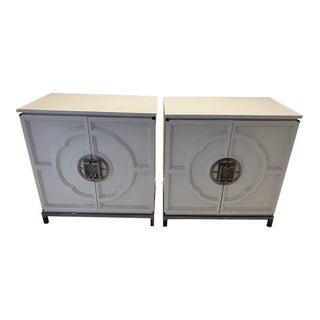Asian Modern Century Furniture Lotus Nightstands - a Pair For Sale