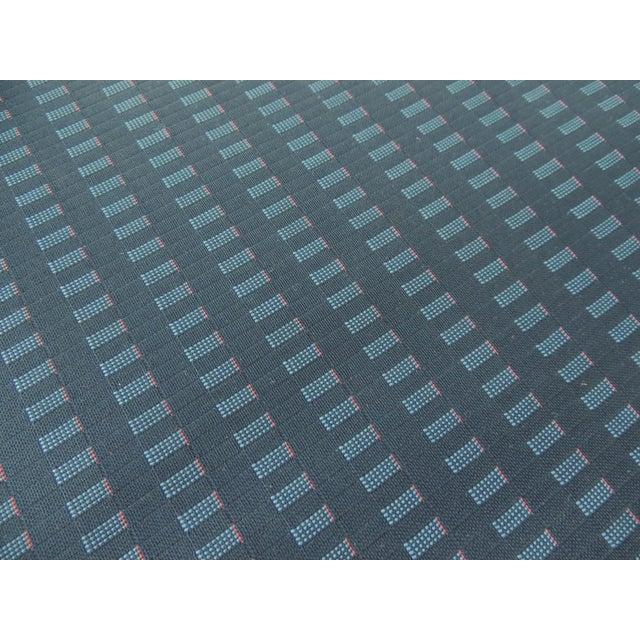 1970's Vintage J.L. Møllers Møbelfabrik Danish Modern Blue Bench For Sale - Image 9 of 11