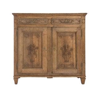 19th Century Bleached Oak Buffet For Sale