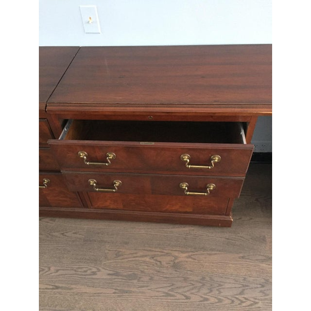 Kimball Chippendale Wood & Brass Credenza For Sale In Chicago - Image 6 of 8
