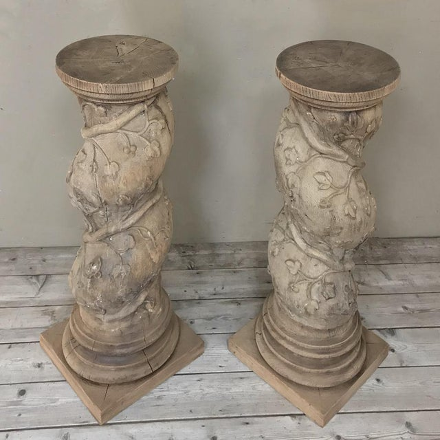 Pair 19th Century Barley Twist Stripped Pedestals For Sale In Dallas - Image 6 of 13