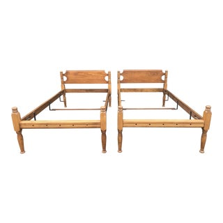 Cohassett Colonials Pine Twin Beds- a Pair For Sale