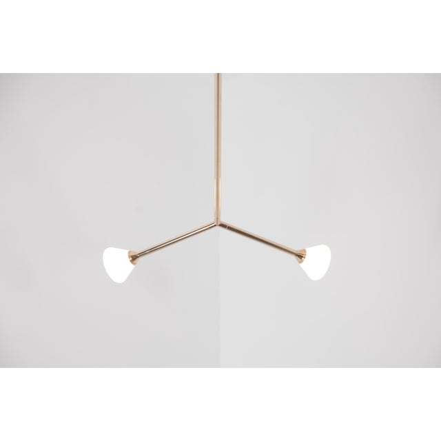 Gold Super Nova Chandelier by McKenzie & Keim For Sale - Image 8 of 13