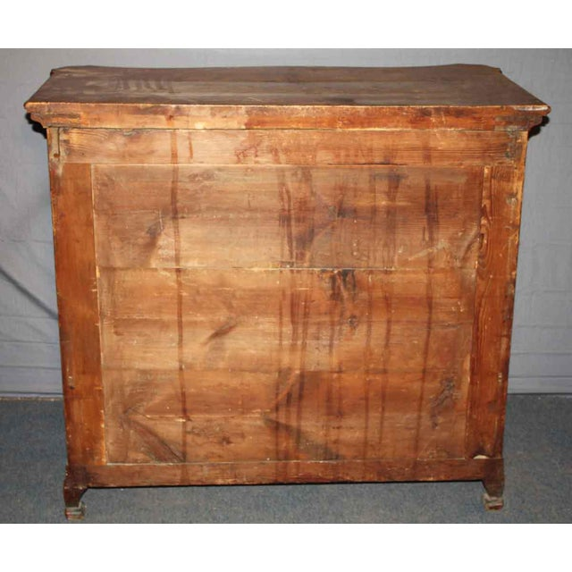 Early 1800s Cherry Chest With Serpentine Front For Sale - Image 4 of 4