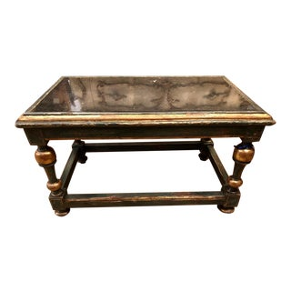 Unusual Antique 18th C Italian Marble Top Low Table For Sale