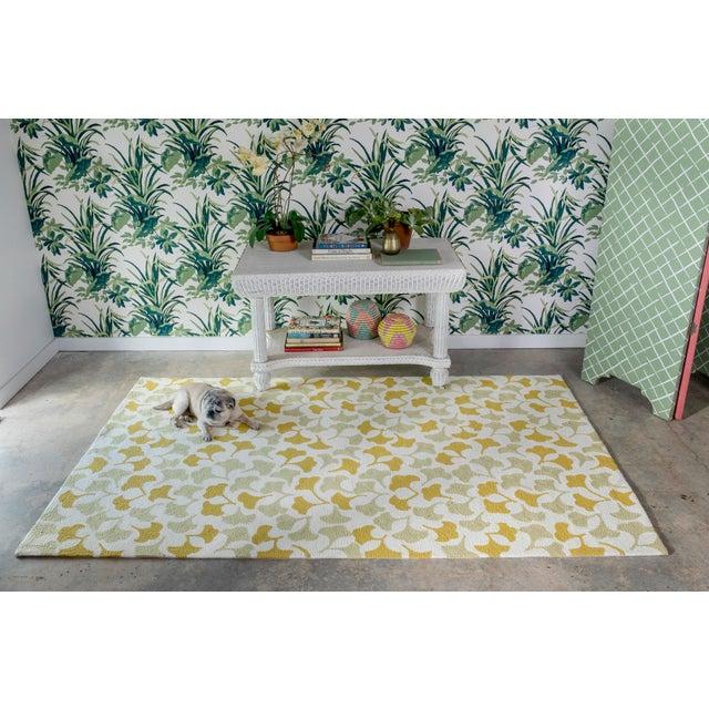 Gold Madcap Cottage Under a Loggia Howards End Gold Indoor/Outdoor Area Rug 2' X 3' For Sale - Image 8 of 9