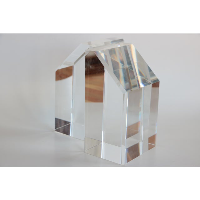 Faceted Lucite Bookends - A Pair - Image 2 of 10