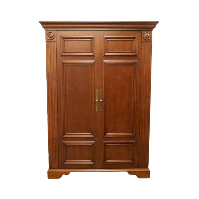 """20th Century Traditional Sligh Furniture Homeworks Home Office Collection 58"""" Computer/Media Armoire For Sale"""
