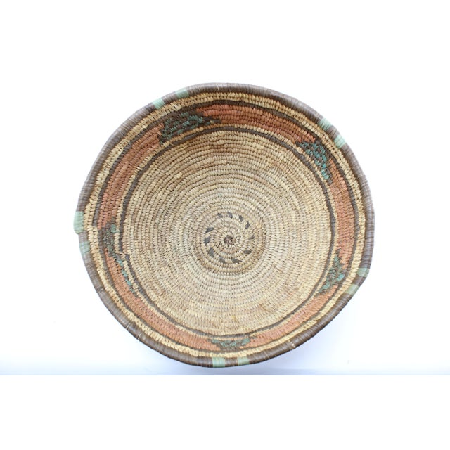Boho Chic 20th Century African Hand Woven Basket Bowl/Basket For Sale - Image 3 of 5