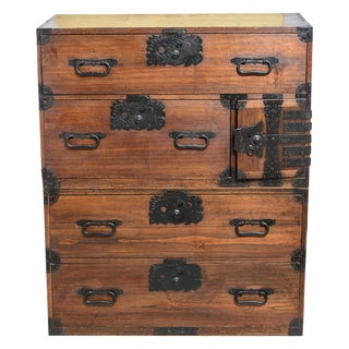 """Early 19th Century Japanese """"Tansu"""" Chest For Sale"""