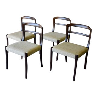 Mid Century Modern Mahogany Dining Chairs by Ole Wanscher For Sale