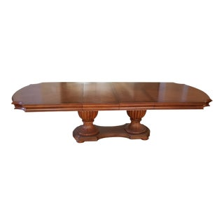 Bernhardt Sienna Collection Double Pedestal Base Dining Table For Sale