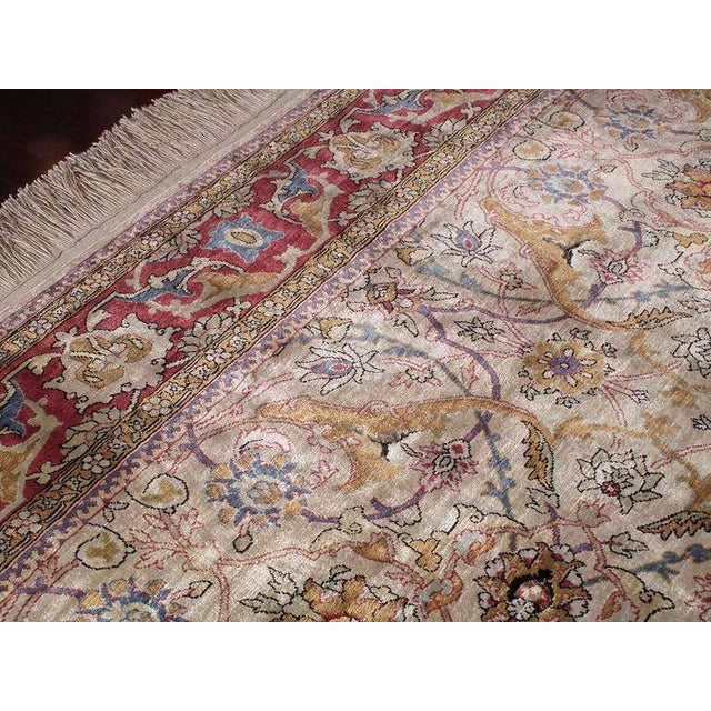 1970s Silk Hereke Rug For Sale - Image 5 of 10
