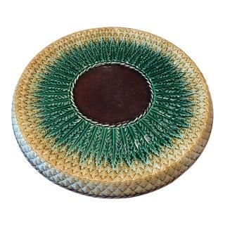 Majolica Pineapple Design Platter For Sale