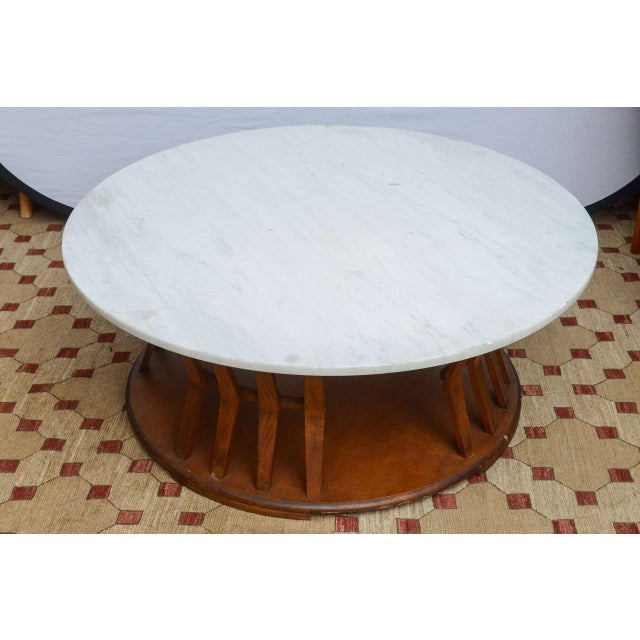 Mid-Century Modern Wormley for Dunbar Style Walnut Coffee Table, 1960s, USA For Sale - Image 3 of 10