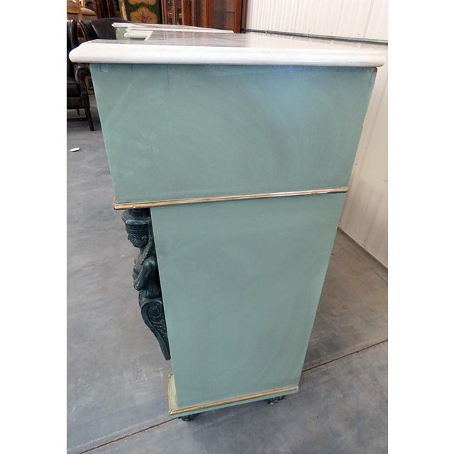 Pair of Marble Top Empire Style Commodes For Sale In Philadelphia - Image 6 of 10
